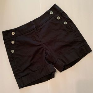 White House Black Market Black Short Size 0